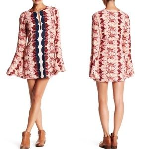 Free People Ossie Vibes Bell Sleeve Tunic Dress 10